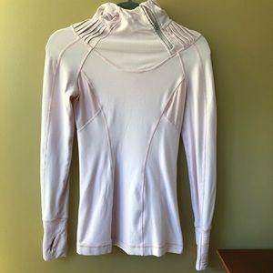 Lululemon Pale Pink Pullover Hoody Shirt Top 2